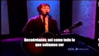 James Blunt - Goodbye My Lover (Subtitulada en español) | Acoustic Version.