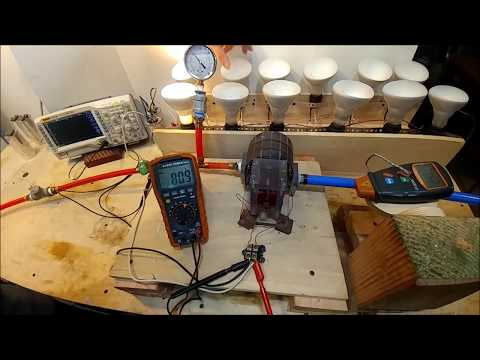One HORSE-POWER 2.5 LB, Dual Stage TESLA TURBINE!! Made of plastic!!
