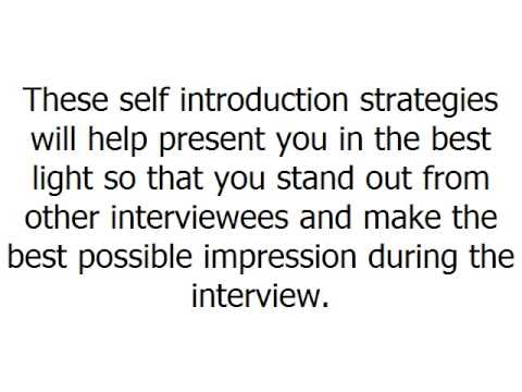 self introduction for bpo job interview