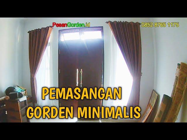 GORDEN BLACKOUT MINIMALIS COKELAT | PesanGorden.id