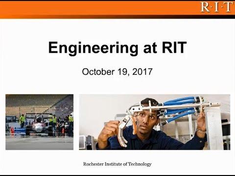 Engineering at RIT - Webinar