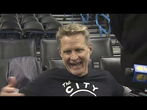 Download Youtube: Steve Kerr jokes that Durant is 'probably going to play' against Thunder   ESPN