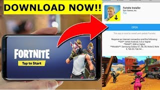 FORTNITE IS NOW ON ANDROID!! HOW TO DOWNLOAD FORTNITE ON ANDROID!!