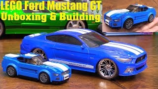 LEGO Building: Toy Cars for Kids! LEGO Speed Champions Ford Mustang GT and Jada RC Car