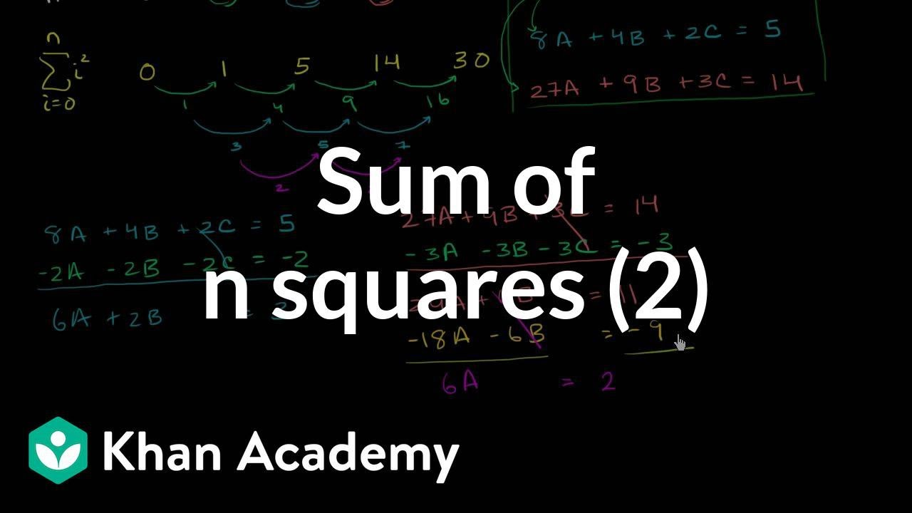 e67b061dd Sum of n squares (part 2) (video)   Khan Academy