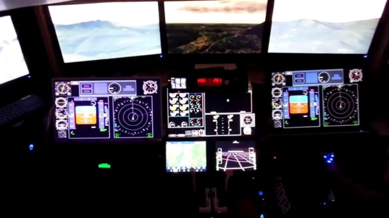 Test AW139 HomeCockpit xplane 10.35 Lugano to Venegono ...