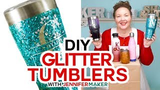Glitter Tumbler Tutorial - Epoxy + Loctite Method - Full Process Start to Finish!