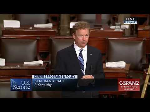 Rand Paul's Speech on AUMF and 16 years of Unconstitutional Wars! 9/12/2017