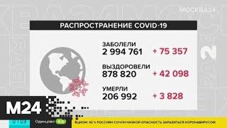 Число заболевших COVID-19 в мире приблизилось к 3 миллионам человек - Москва 24