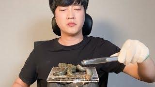 살아있는 미꾸라지 숯불 구이 먹방 Korea Food …