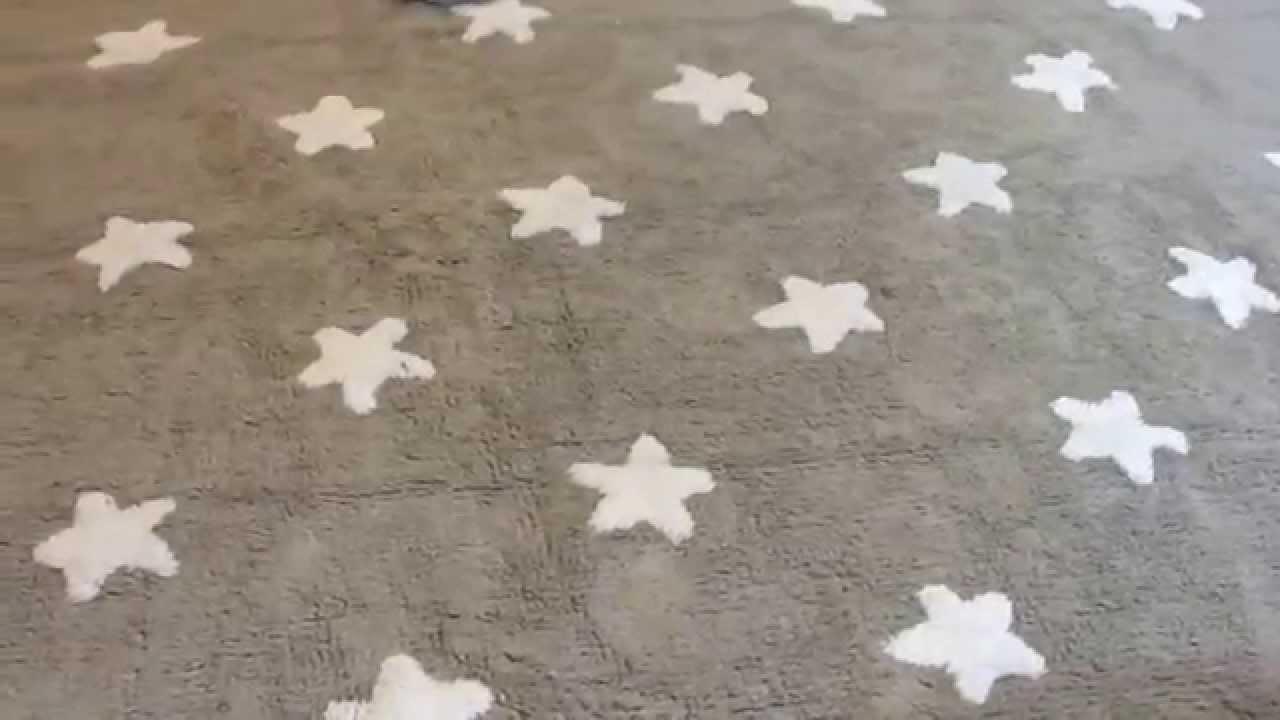 Lorena Canals Tapis Chambre Bébé - Tapis Gris Etoiles Blanches - YouTube