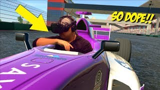 I'M IN A F#%KING RACE CAR!!! [DOPEST VR GAMEPLAY EVER! 4]