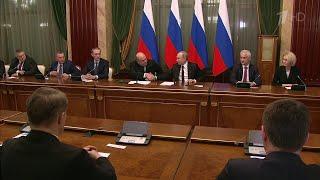 Владимир Путин поздравил с назначениями новое правительство и пожелал ему успехов.
