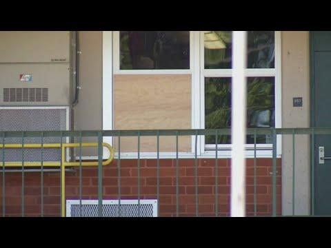 Student describes bullet hitting school