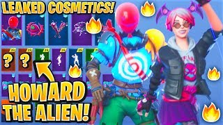 *NEW* All Leaked Fortnite Skins & Emotes..! HOWARD THE ALIEN (AirHead, Callisto, Signature Shuffle)