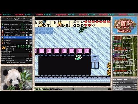 Zelda Oracle of Seasons Speedrun 1:42:03 (WR / world record)