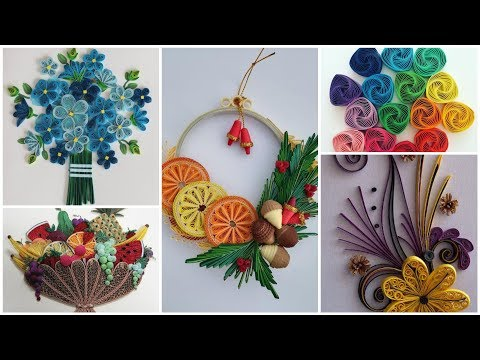 Paper Quilling Design Ideas/Quilling Wall Art/Quilling Bouquet/Quilling Flowers