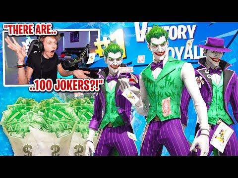 I got 100 JOKER SKINS to scrim for $100 in Fortnite... (sweatiest scrim ever)