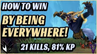 How To Win By Being In Every Lane/Hard Jungle Carry Guide - League of Legends Climbing Tips