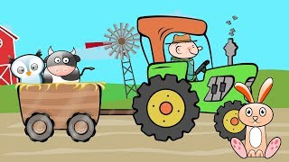 The Tractor Drawing | Colors and Shapes | Videos for kids and babies | Traktor Rysunek bajki