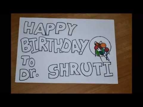 Birthday wish to Shruti/ Stop motion video