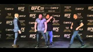 UFC 196: Conor McGregor, Nate Diaz Almost Scuffle After Staredown galaxy s7