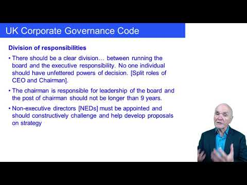Corporate governance and ethical considerations - ACCA Paper BT