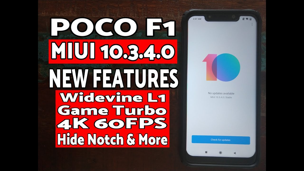 First Look Poco F1 MIUI 10 3 4 0 Stable