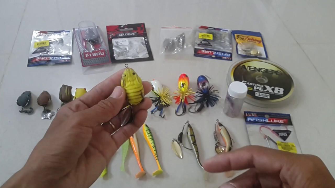 Những con mồi câu Lure ( Rê ) cá lóc đồng thật hiệu quả của - Vinh Ròm