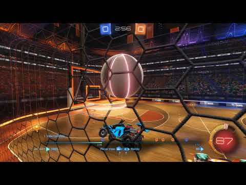 Rocket League - Hoops Aerial over tough defence