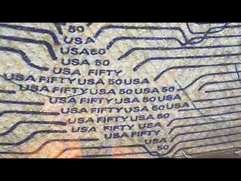 HIDDEN Words On American Currency (SERIOUSLY!!) This Is ACTUALLY On A $50 Bill