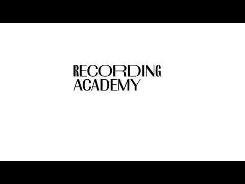 Animated logo of The Recording Academy, featuring Francis Gradient