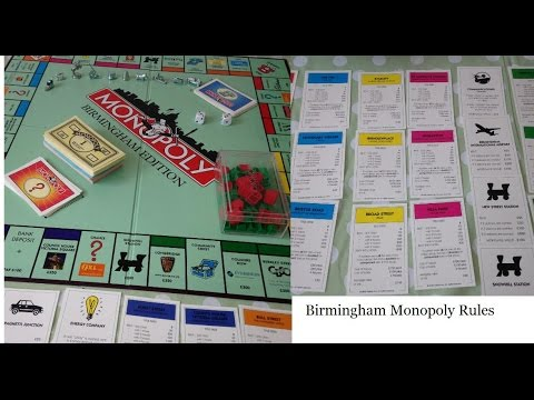 Monopoly Birmingham Edition Board Game Rules Instructions How To
