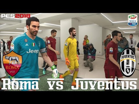 Pes 2018 (pc) roma v juventus | serie a prediction | 13/5/2018 |1080p 60fps