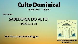 SABEDORIA DO ALTO - Tiago 3.13-18
