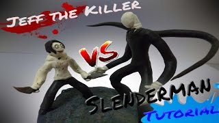 SLENDERMAN VS JEFF THE KILLER de Plastilina - (Tutorial)