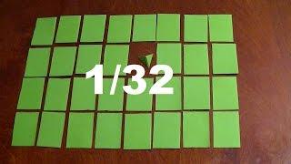 Как самому сделать модуль 1/32-ая для модульного оригами