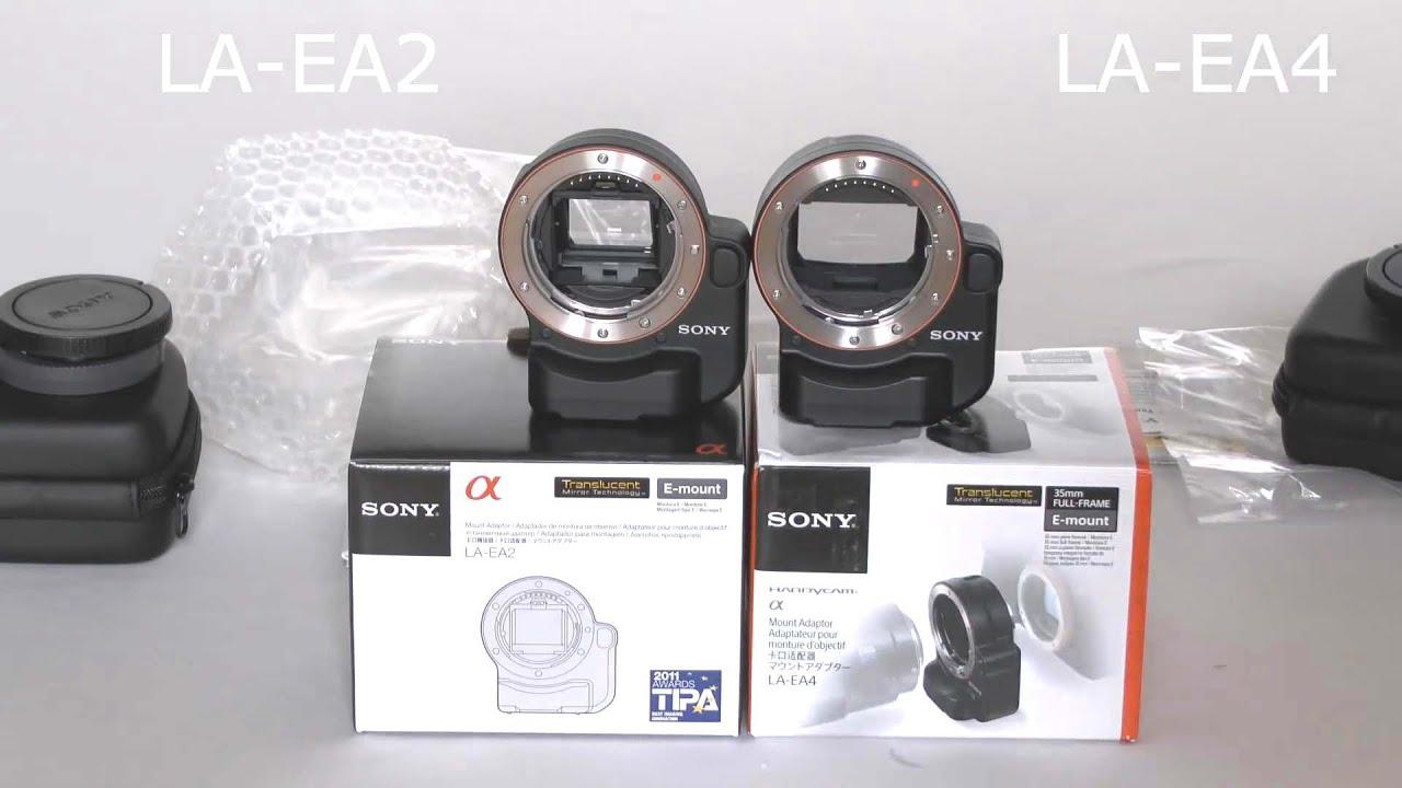 Sony LA-EA4 and LA-EA2: Any Difference?