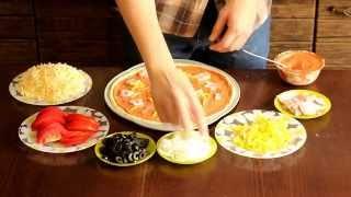 видео Пицца с креветками. Рецепт