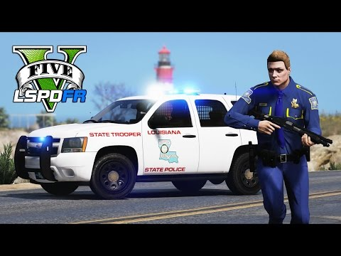 GTA 5 - LSPDFR Ep176 - Louisiana State Police Craziness!!