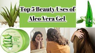 Top 5 Uses of ALEO VERA GEL for Skin & Hair benefits of Aleo Vera Gel Get clear Skin(Urdu/Hindi)