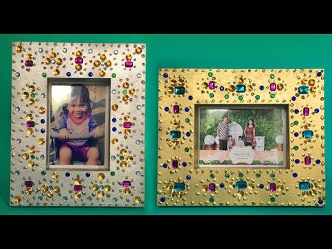 Diy Shimmer Shine Photo Frame Cara Membuat Bingkai Foto Youtube