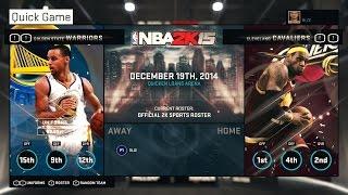 NBA 2K15 PC TEST Gameplay on AMD Radeon R7 M265 Match GOLDEN STATE WARRIORS vs CLEVELAND CAVALIERS