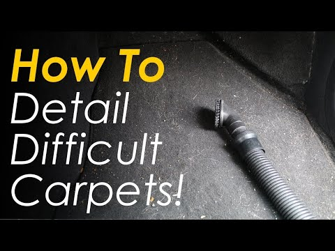 How To Clean Your Cars Interior & Detail Difficult Carpets!