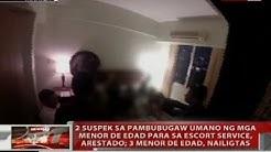 2 suspek sa pambubugaw umano ng menor de edad para sa escort service, arestado