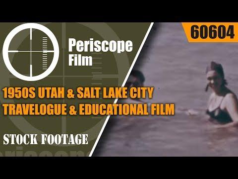 1950s UTAH & SALT LAKE CITY  TRAVELOGUE & EDUCATIONAL FILM 60604