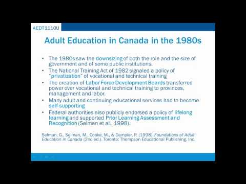 6.2 Adult Learning History from 1960 - Present