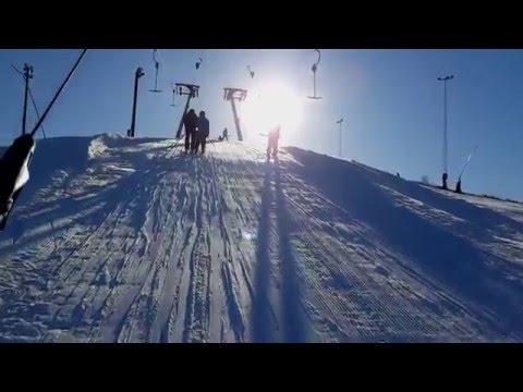 Skiing in Hammarbybacken – Stockholm, Sweden