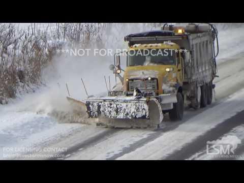 01-06-2017 Erie County, PA Lake Effect Snow - Heavy Snow, Semis in Median, Heavy Wreckers