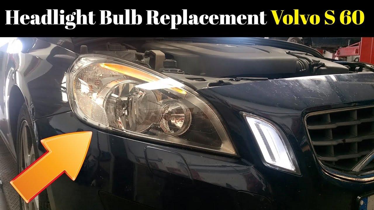 volvo v40 2013 headlight bulb replacement
